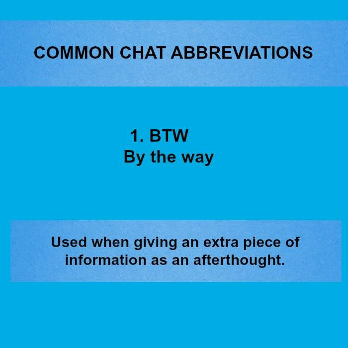 20 Popular Text Chat Whatsapp Abbreviations