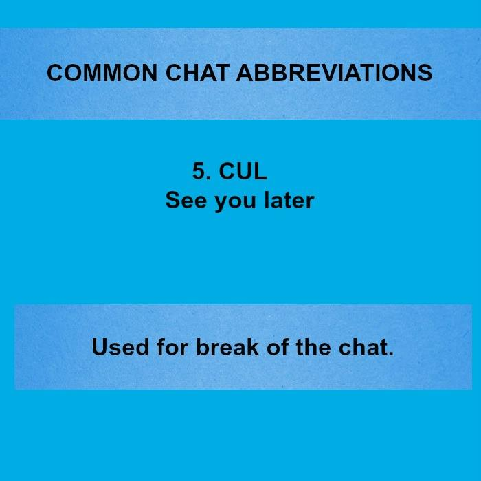 20 Popular Text & Chat & WhatsApp Abbreviations