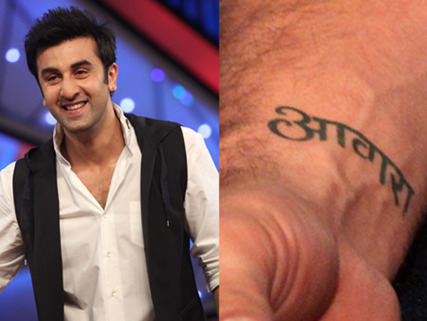 Bollywood Celebrities and Their Fashionable Tattoos