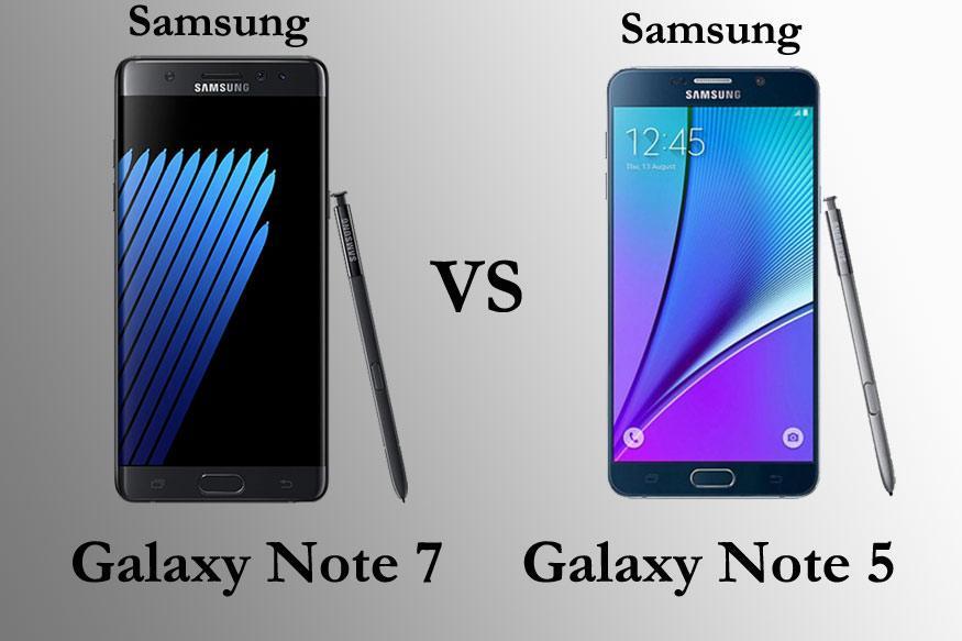 Samsung Galaxy Note 7 vs Galaxy Note 5