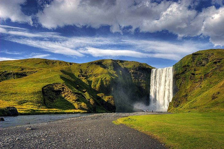 Beautiful Skogafoss Waterfall in South Iceland