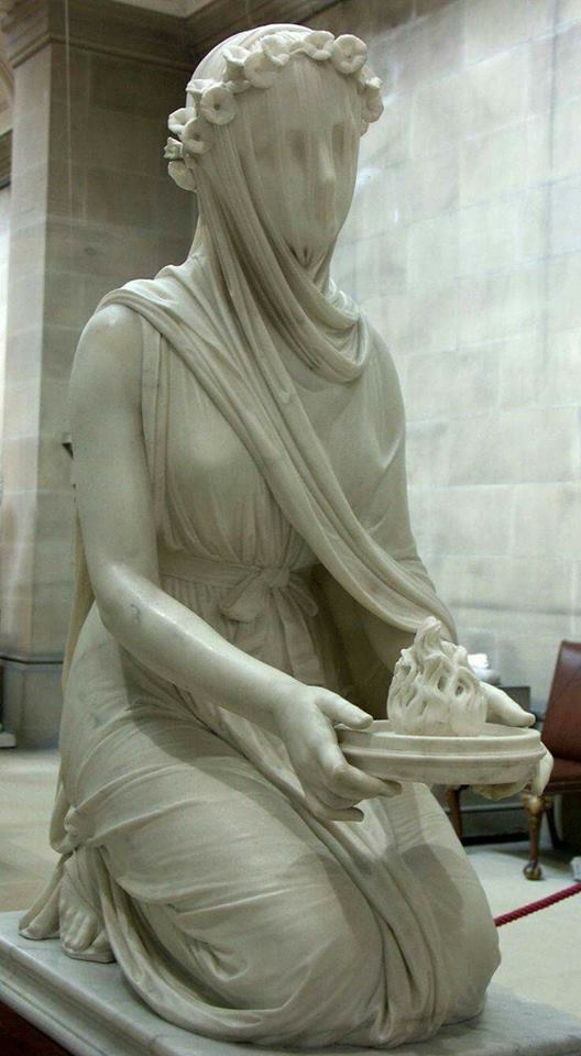 The Veiled Vestal Virgin by Raffaele Monti, 1847