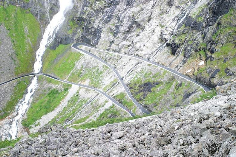 Beautiful and Breathtaking Trollstigen mountain road in Norway