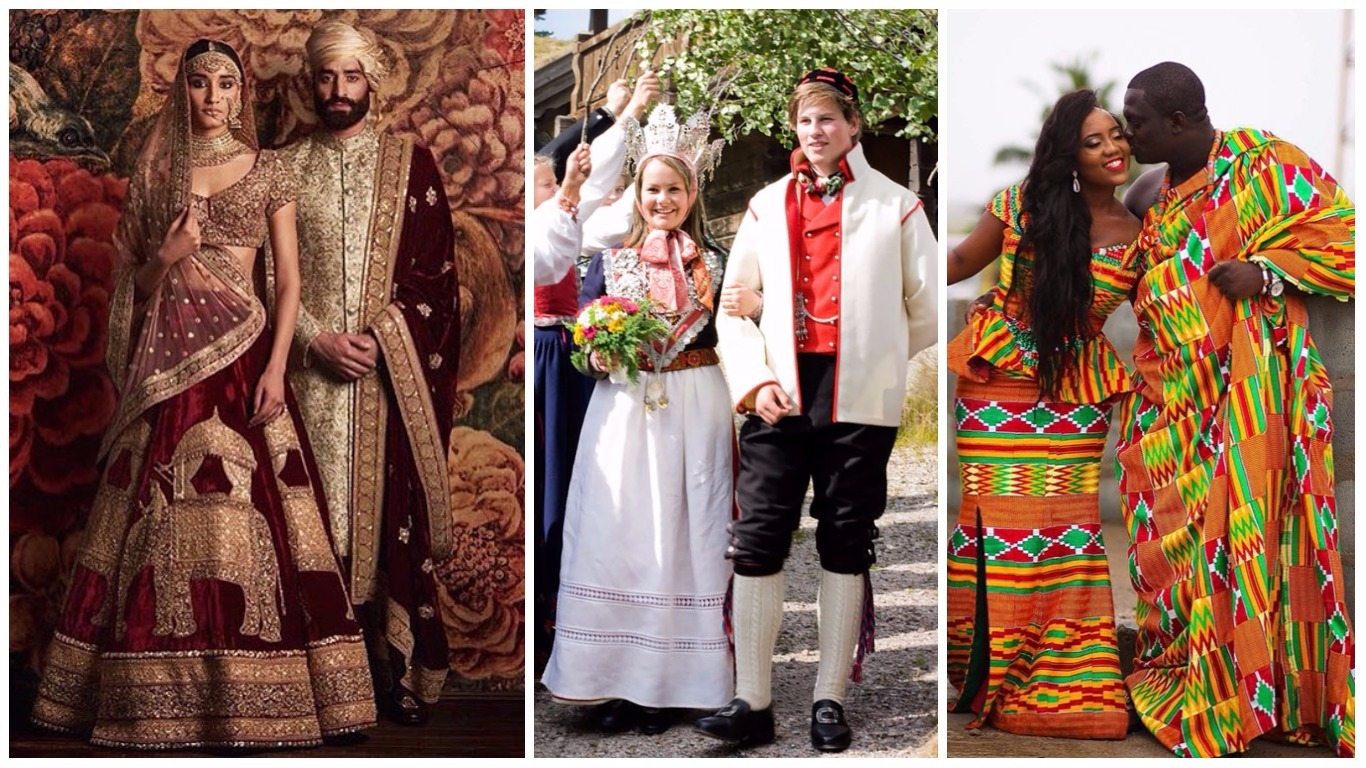 Mind Blowing Traditional Wedding Dresses Around The World: 38 Most Amazing And Traditional Wedding Outfits From