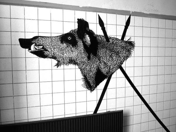 Artist creates amazing street art using tape (20 Photos)