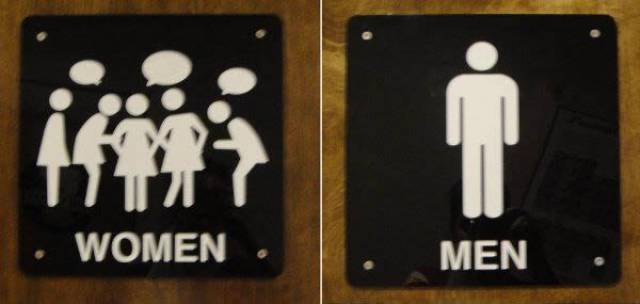 Bathroom Signs Is The Place Where All The Creativity Is Needed (15 pics)