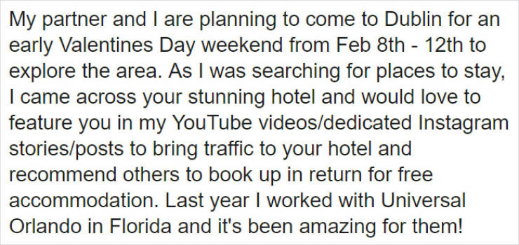 Blogger Begs For A Free Hotel Stay, Owner Responds (19 pics)