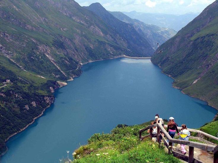 Mooserboden Reservoir near Kaprun, Austria