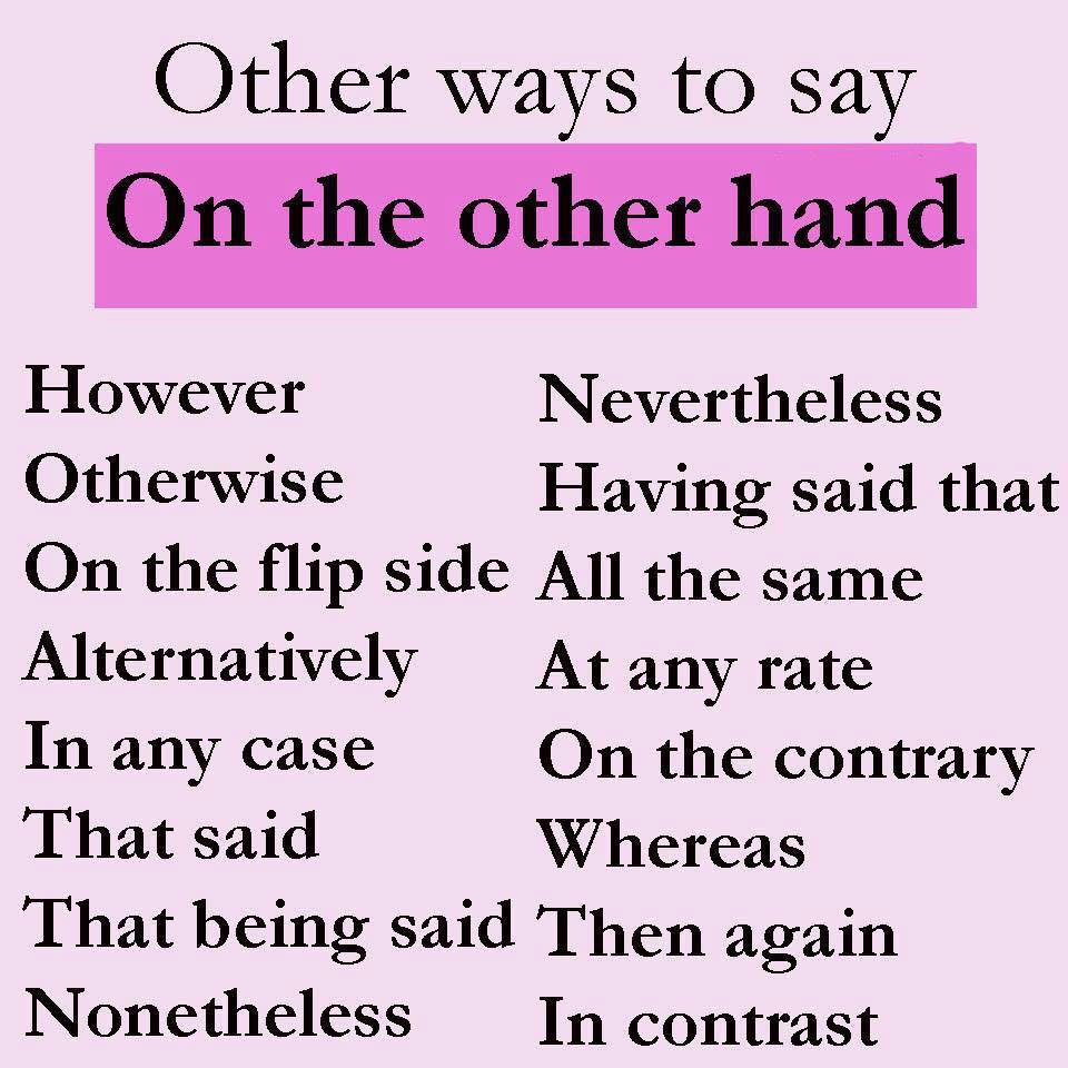 30 Other Ways To Say Common Things