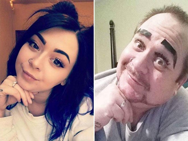 This Dad Trolls Daughter by Recreating Her Selfies (16 Pics)