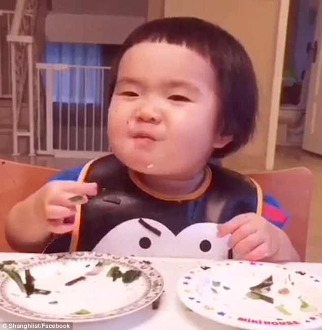Viral Video: Baby Eating Machine