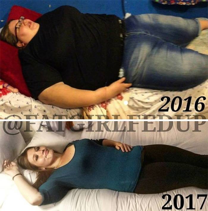 Woman Who Used To Weigh Almost 500lbs Recreates Her Old Photos, And It's Hard To Believe It's The Same Person