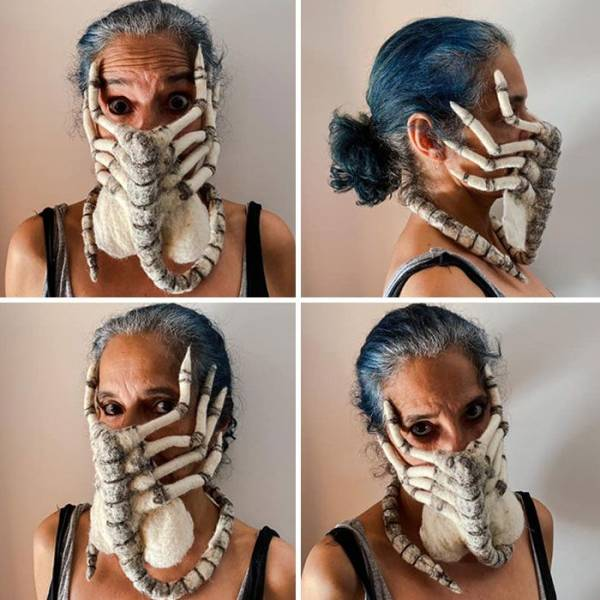 #Corona Times: Face Masks Can Be Original Too! (20 pics)