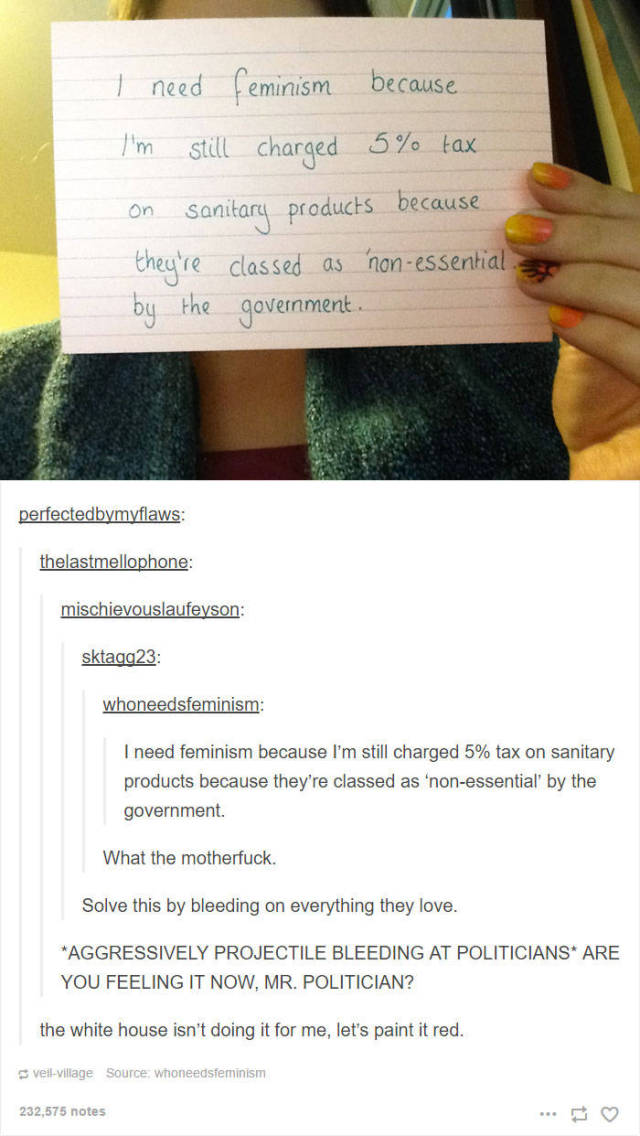 Funny Tumblr Posts That Will Make Laugh Any Feminist (13 pics)