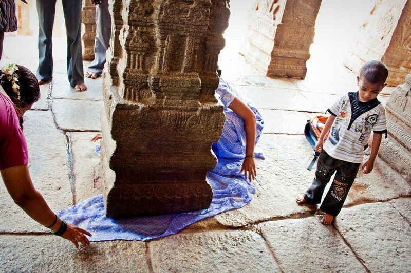 The Hanging Pillar and India's Largest Nandi statue at Lepakshi Temple