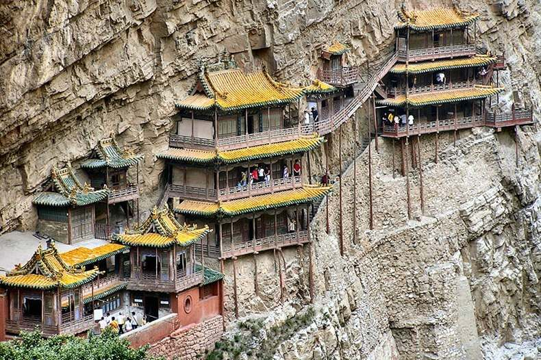 Ancient Hanging Temple in Mount Hengshan, China