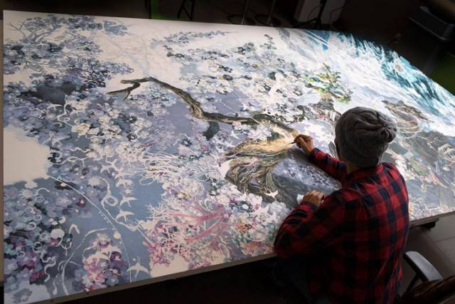 It Took Artist 3.5 Years To Finish This Incredible Huge Pen And Ink Painting (10 pics)