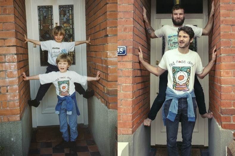 Two Brothers Hilarious Recreation of Old Childhood Photos
