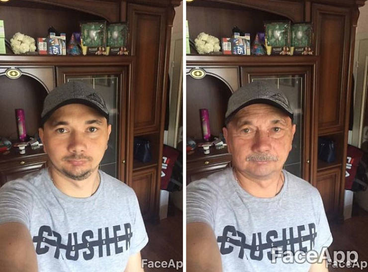 FaceApp - New FaceApp Filter Can Turn You Into An Old Person (41 pics)