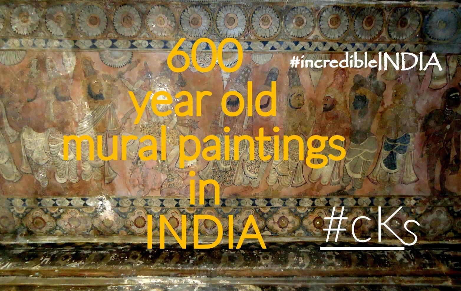 Centuries Old Ancient Mural Paintings in Indian Temple