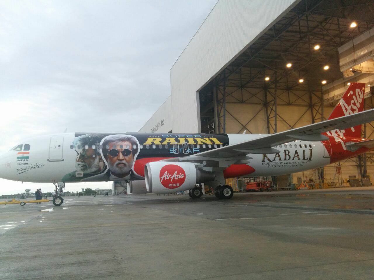 Sky is the limit for Rajinikanth - First Time in Indian Film History - 'Kabali' Painted On International Flights