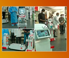 Robots serve food, medicines to COVID-19 patients at Chennai hospital in India | #Corona Crisis Times