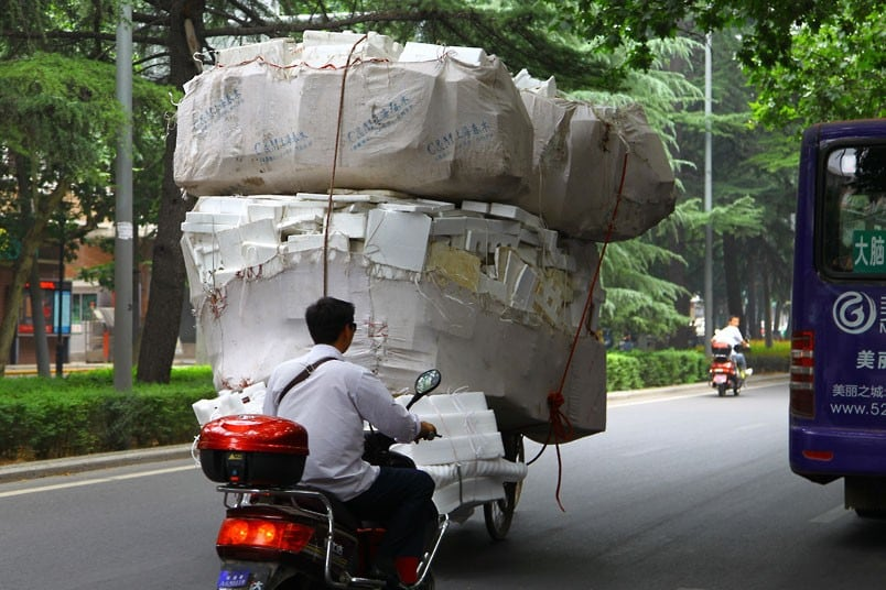 Overloaded Vehicles in China