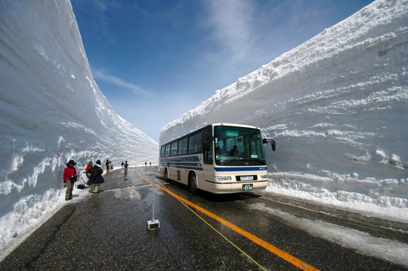 Most Beautiful Snow Canyon Roads in Japan
