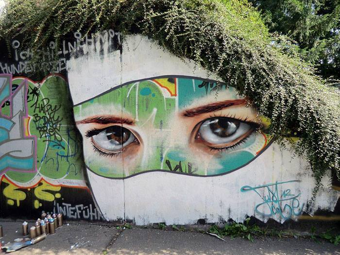 Best Of 18 Most Amazing Street Art Collection With Real Botanical Hair