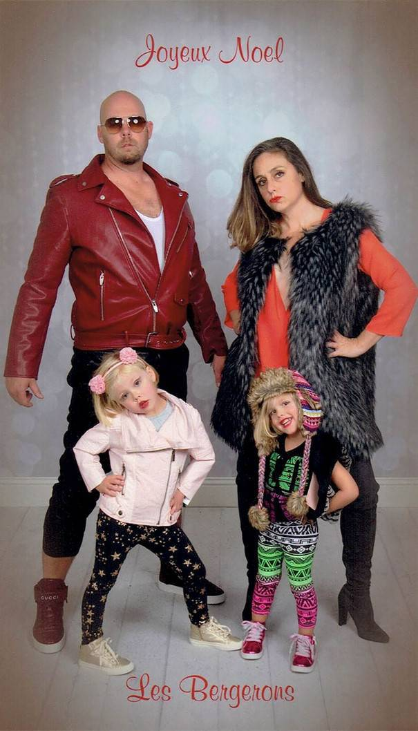 This Bergeron Family Might Be Making The Best Christmas Cards! (15 pics)