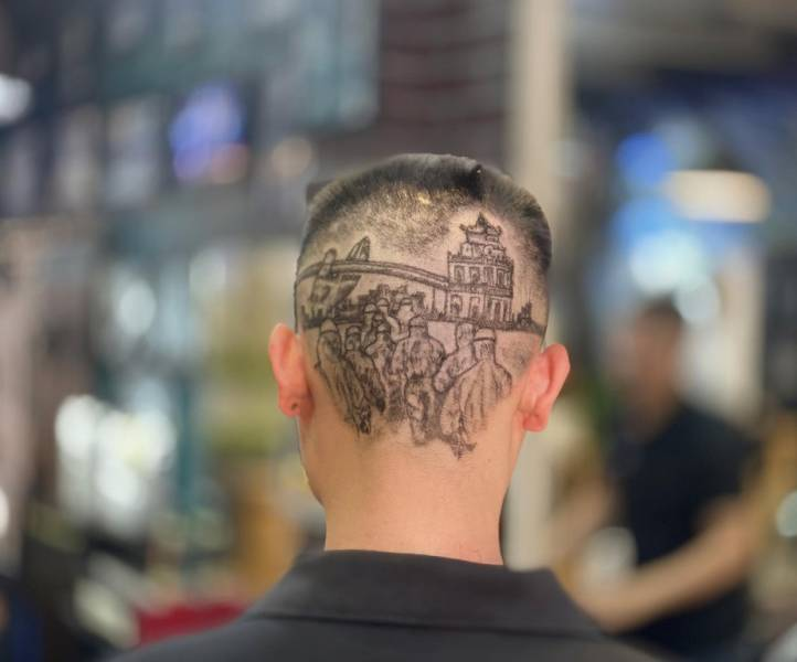 This Vietnamese Hairstylist Uses Backs Of People's Heads As Canvases! (19 PICS)