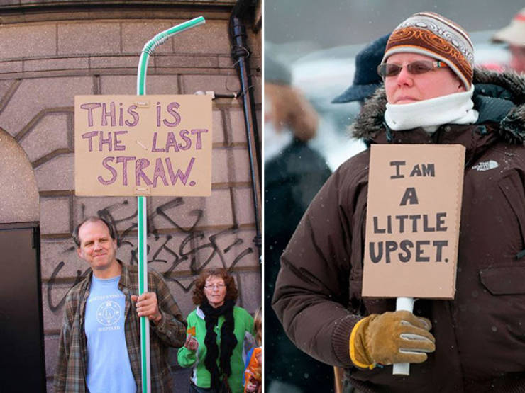 When You Are Very Polite But Still Have To Protest (20 pics)
